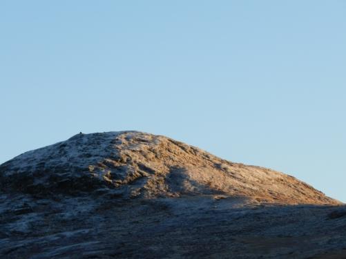Klevahovda i soloppgang, fra Fødalsvatnet